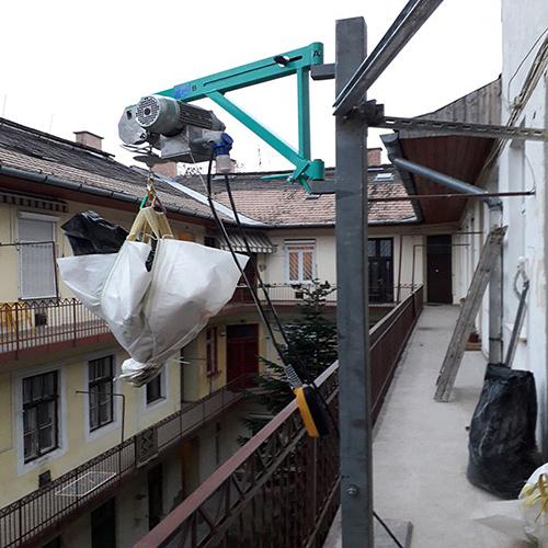 imer építési építkezési elektromos csörlő bérlése kölcsönzése