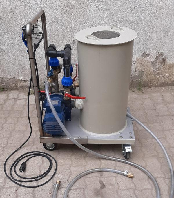 Fűtési rendszer tisztító mosató hőcserélő kazán savazó napkollektor feltöltő légtelenítő szivattyú bérlése kölcsönzése